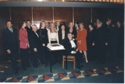 Guests backstage at MFAS Carnegie Hall Birthday Benefit