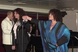 Dame Cleo, daughter Jacqui Dankworth, and John Dankworth at an MFAS 2002 Benefit