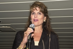 Lucie Arnaz introduces Cleo Laine and John Dankworth at an MFAS Benefit on the World Yacht 2002