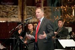 Michael Gargiulo introduces th program at the Russian Tea Room Benefit in 2013