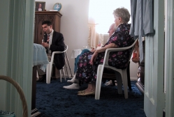 David Hattner in the Care For Caregivers program in a home in Union County, NJ
