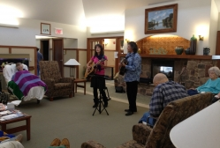 Naming The Twins bring their Canadian folk music to the Center For Hope Hospice in Scotch Plains, NJ