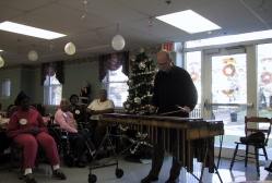 Pecussionist Peter Wilson bring his talents to Muhlenberg Day Care Center in Plainfield,, NJ