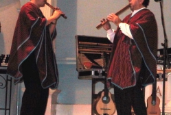 Pepe Santana and Rothman Teran perform at St. Augustine's Church in lower Manhattan as part of the Hope and Healing series following 9.11
