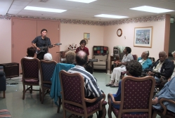 Robert Ross and Jon Loyd present a program at  the Muhlenberg Adult Day Care Center in Plainfield, NJ