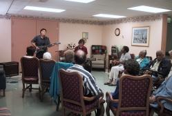 Robert Ross and Jon Loyd present a program at  the Muhlenberg Adult Day Care Center in Plainfield, NJ