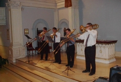 The Riverside Trombone Quartet in the Hope and Healing series at St. Augustine's Church in lower Manhattan following the events of 9.11